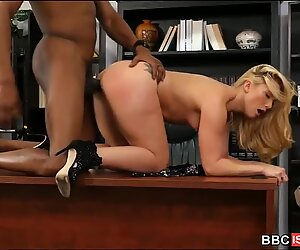 Fat Dick Black Guy Pounds Big Booty White Girl