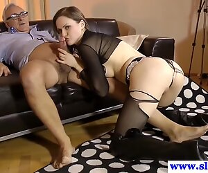 British amateur titfucking older guy in boots