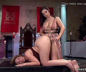 Lesbian Milf domme anal fists sub