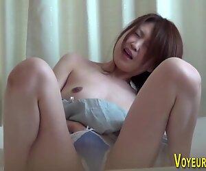 Asian hottie masturbates