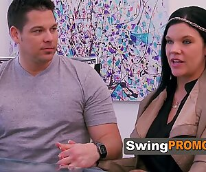 Swing wife takes her man to the mansion to celebrate the hottest bday ever