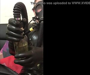 Rubber Slave with Piss Inhaler