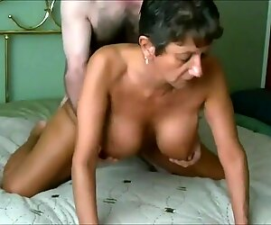 Fit Granny's Cunt Aches for Young Cock