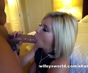 BBC Splits Wife   s Pussy And Fills Her With Cum While Husband Watches