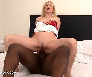 Granny caught secret interracial fuck-fest gauze she gets porked