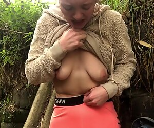 POV Girlfriend Pees her Pants in Public for You! Public Piss!