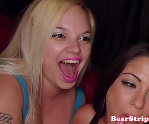 Amateur birthday babes pussyfucked on camera