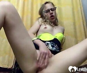 blonde stepsister caught masturbating on hidden camera