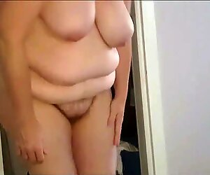 getting out of her tight girdle, put on pantys,Bra, hairy