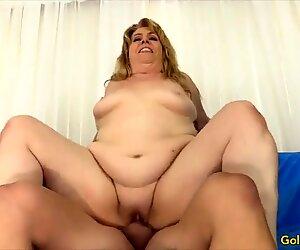 Golden Slut - Blonde Grannies Riding Cocks Compilation