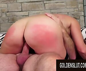 Golden Slut - Juicy Mature Redheads Bouncing in Cowgirl Compilation Part 1