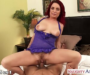 Redhead sweetheart Ashlee Graham rubs her hairy hole Report this video