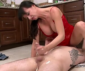 Big Tit Milf Blowjob and Facial