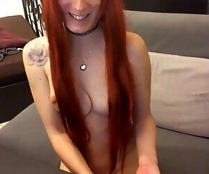 nice german redhead on webcam
