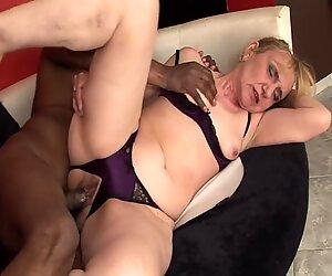 Granny fucked by black cock