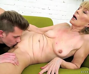 Old lady Szuzanne and her big cocked young lover