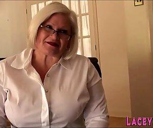 Fat grandmother deep throats huge cock