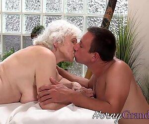 La vecchia nonna prende in Faccia