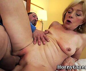 Grans pussy cum sprayed