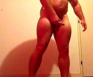Sexy Bodybuilder Naked Sweaty Flexing in Garage. OnlyfansBeefBeast Musclebear Bull Hot Guy Sexy Top Hairy dominant hung big dick giant cock huge balls Flexing Posing biceps muscles bull