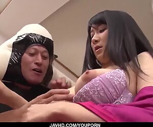 Big Japanese dicks to suit restless Chie Aoi - More at javhd.net