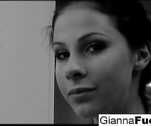 An interracial poolside threeway with big boobed Gianna