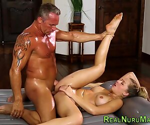 Assfucked masseuse cream