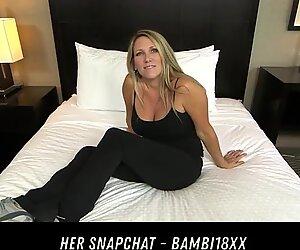 Beautiful Big Tits Cougar Fucks Pov HER SNAPCHAT - BAMBI18XX