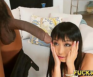 Biggest cock this asian girl has had