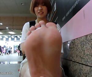 Giapponese eccezionale piedi in taipei nanako 168cm 24.5cm 22yo