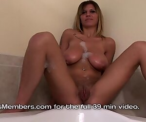 Shy Newcomers with Big Natural Tits & Hairy Pussy Get Wet