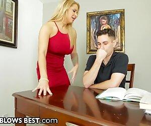 Big Tit Step MILF Sucks & Jerks Son's Big Dick B4 Daddy Sees!
