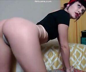 OMG THAT PERFECT ASS and She Swallows 12 Inch Dildo