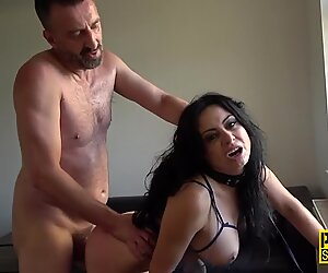 Busty bdsm whore nailed and throated